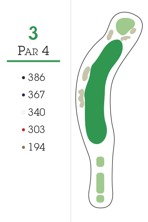 Missoula Country Club Golf Course Hole 3 Layout