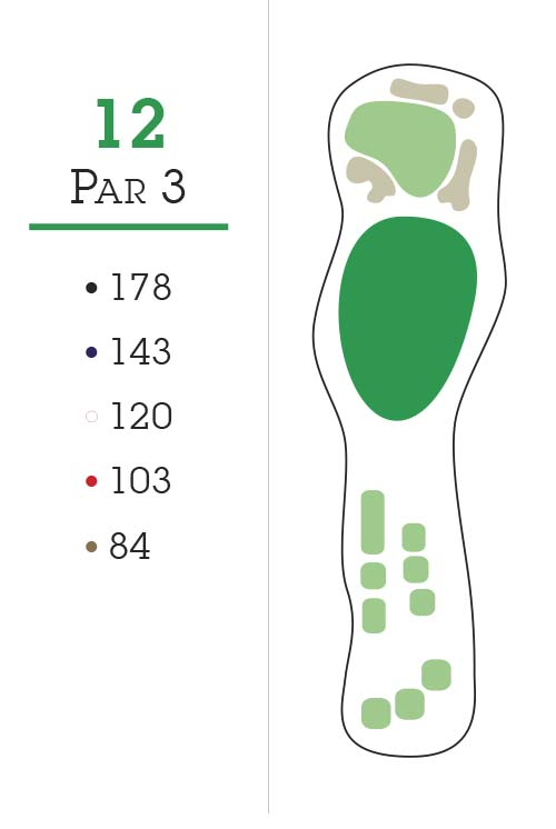 Missoula Country Club Golf Course Hole 12 Layout
