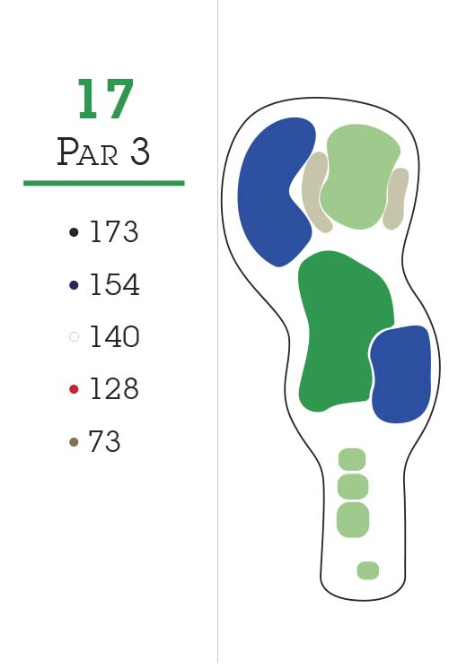 Missoula Country Club Golf Course Hole 17 Layout