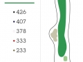 Missoula Country Club Golf Course Hole 14 Layout