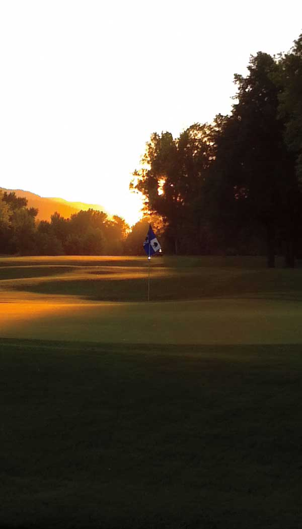 Sunset On 18