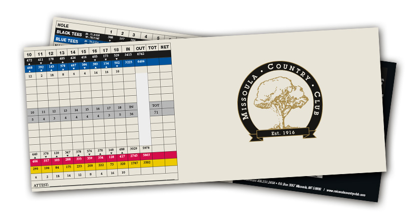 Missoula Country Club Score Card 2019
